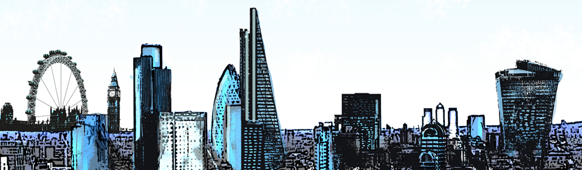 Stylised London Skyline