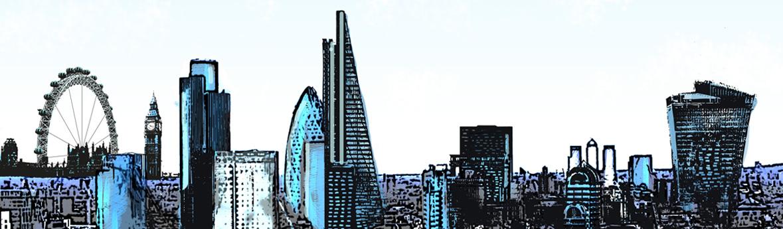 Stylised London Skyline